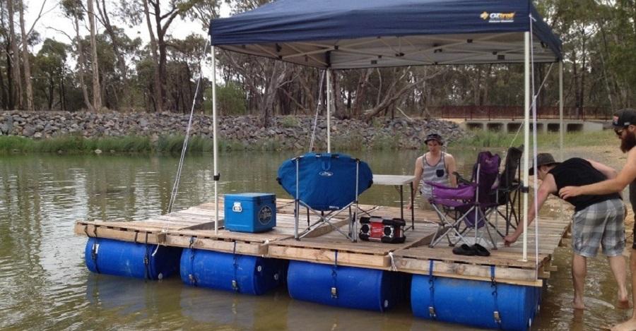 Raft building info for Floating fishing platform